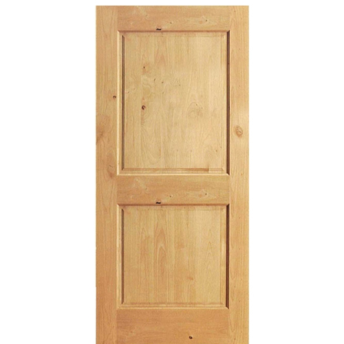 2 panel knotty alder interior doors look stylish and rich