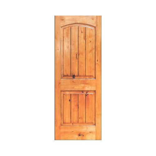 8 foot Knotty alder interior doors can be stylishly decorated