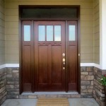 : An exterior fiberglass door painting affects the style