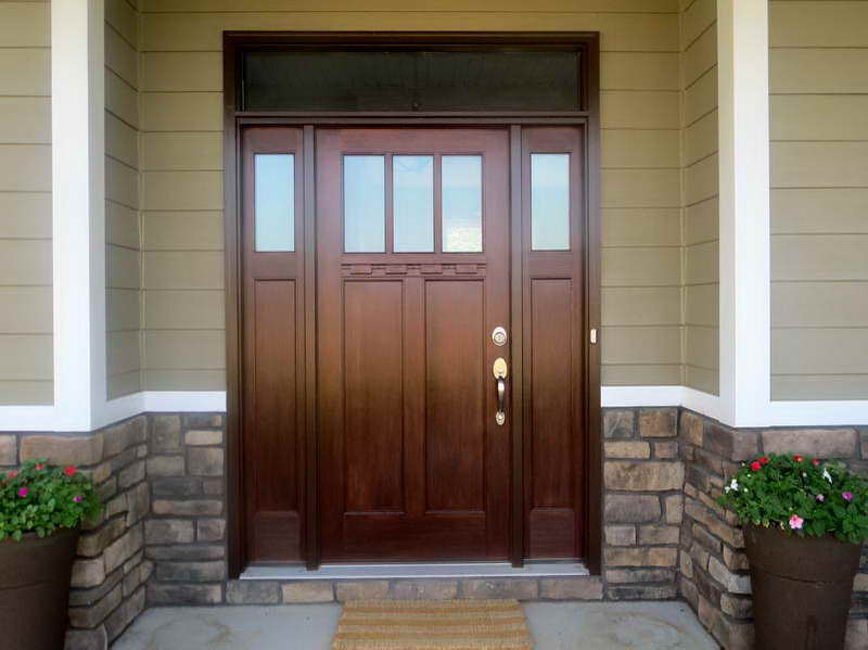 Exterior Fiberglass Doors With Glass Look Gorgeous Interior