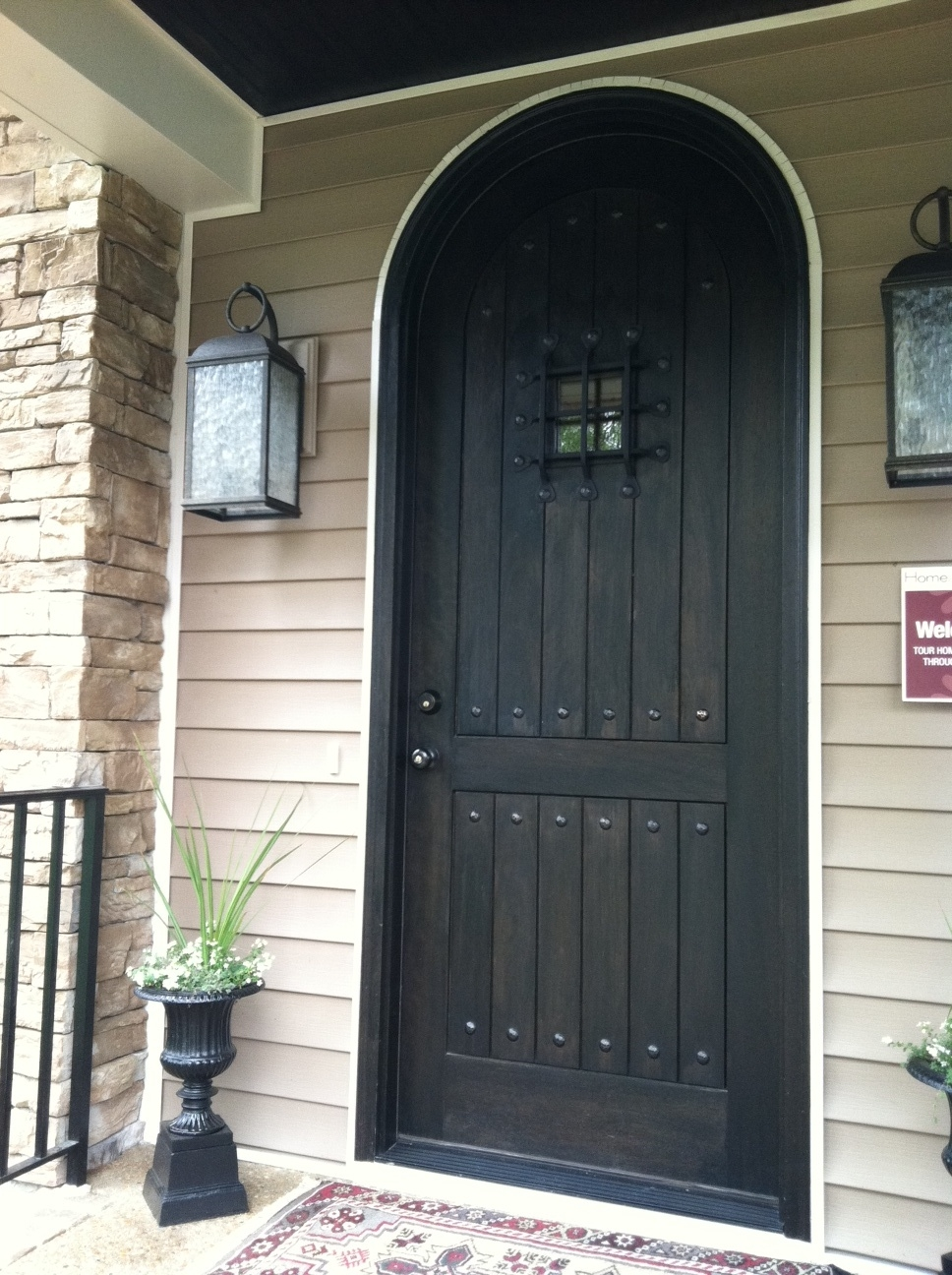 Arched front doors are symbolically called the Gates of Heaven