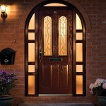 : Arched front doors from the UK can be a sophisticated way of making