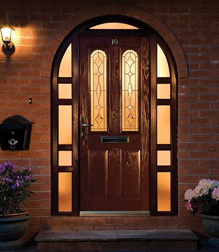 Arched front doors from the UK can be a sophisticated way of making