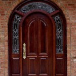 : Arched front doors with sidelights can be a reason of enthusiastic exclaims of