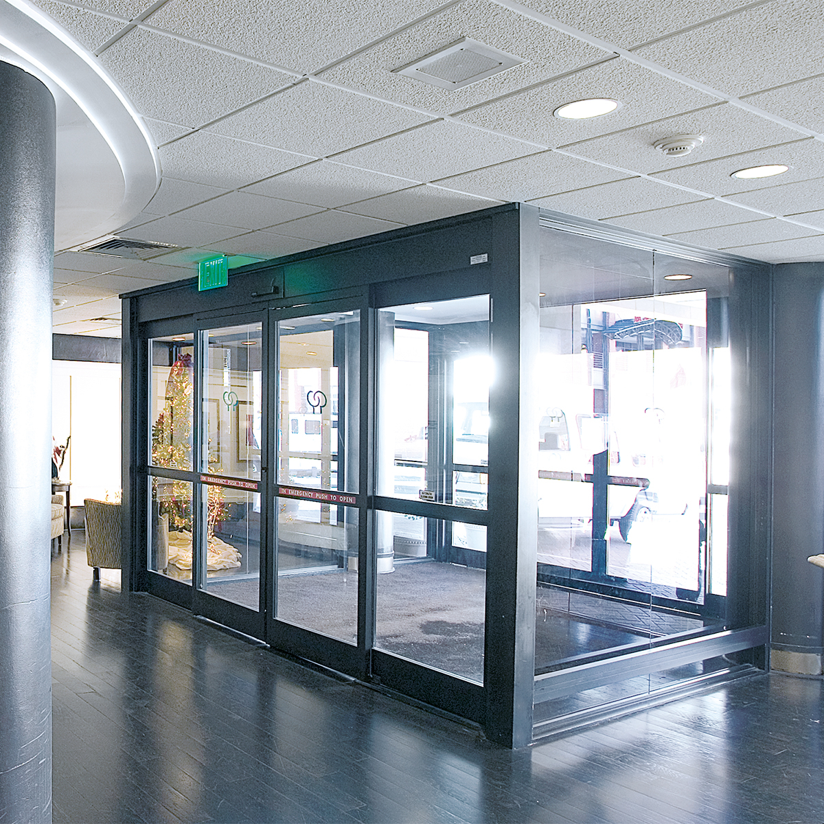 Automatic interior pocket doors are good for commercial usage