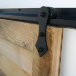 Barn door hardware rail is used when installing sliding unit