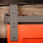 Barn door hardware track system is needed for sliding doors