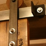 : Barn door hardware wheels let the door rolling