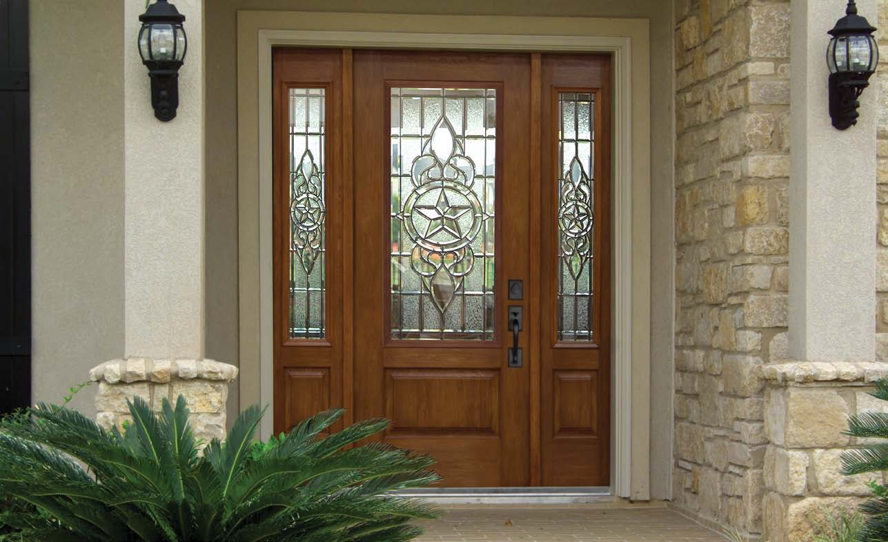 Best entry doors with sidelights made of tempered glass or fiberglass