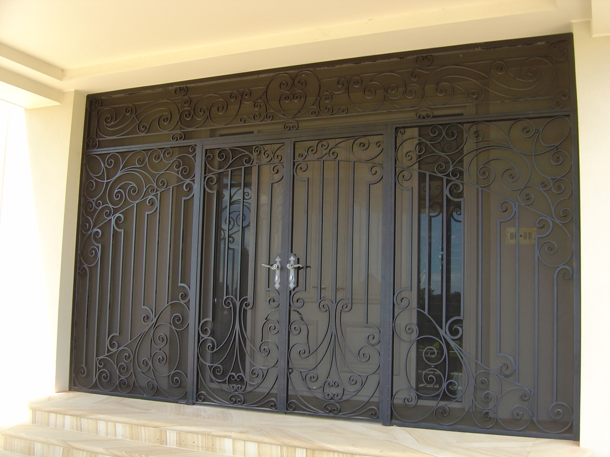 Best wrought iron entry doors provide increased security and ultimate privacy