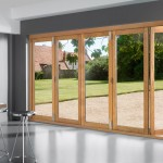 : Bi fold patio doors of wood are well resistant to any weather conditions