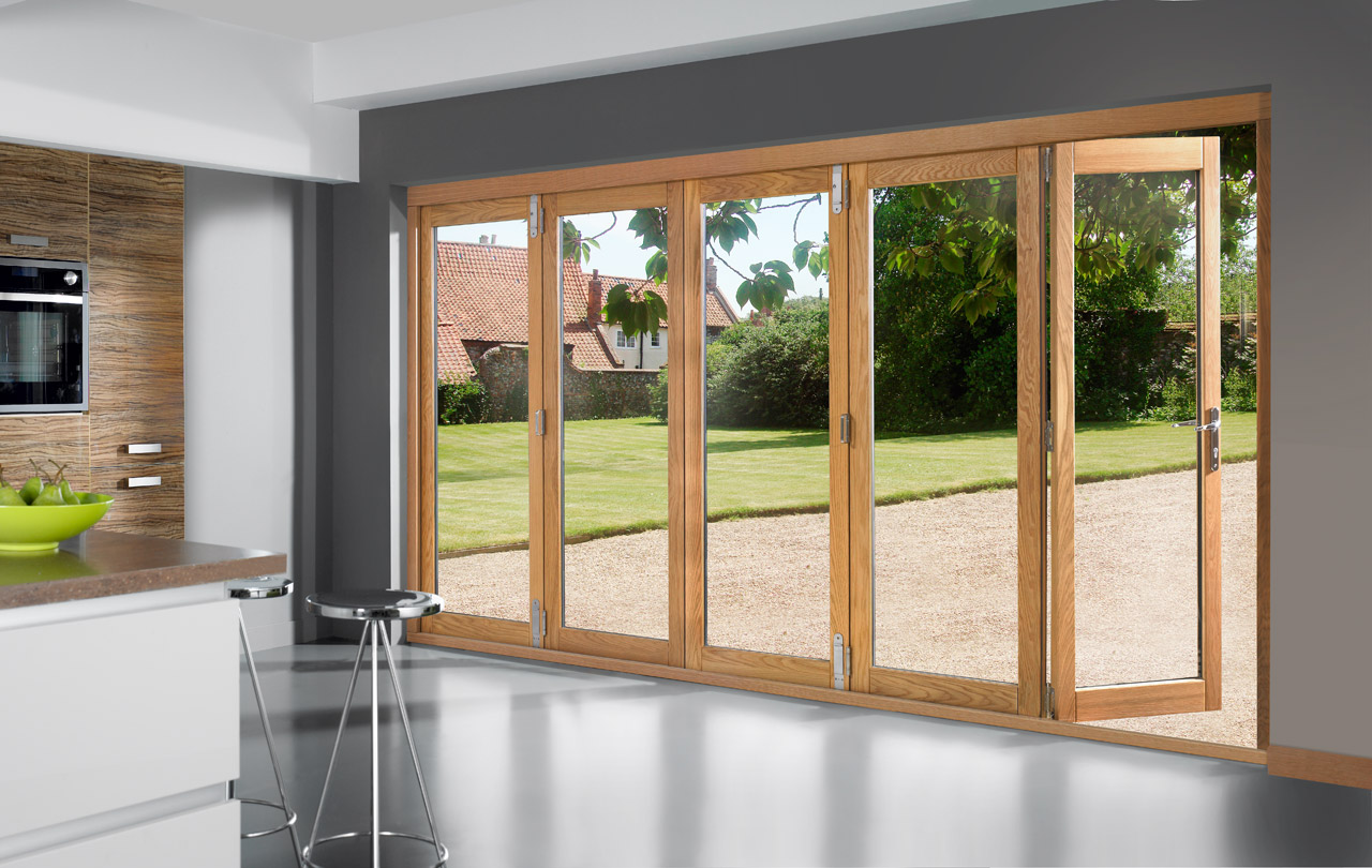 Bi fold patio doors of wood are well resistant to any weather conditions