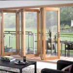 : Bi folding wooden exterior doors make the look of your house gorgeous