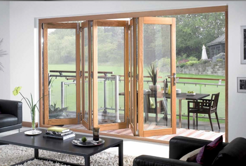 Tri Fold Exterior Patio Doors Create A Stylish Home Look | Interior U0026 Exterior  Doors Designs, Installation Ideas