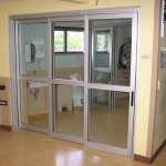 Commercial automatic sliding entry doors are widely used in the shops