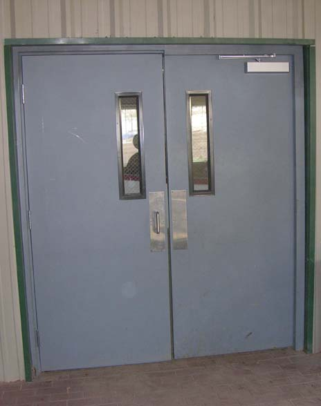 Commercial exterior double doors should be more secure and durable