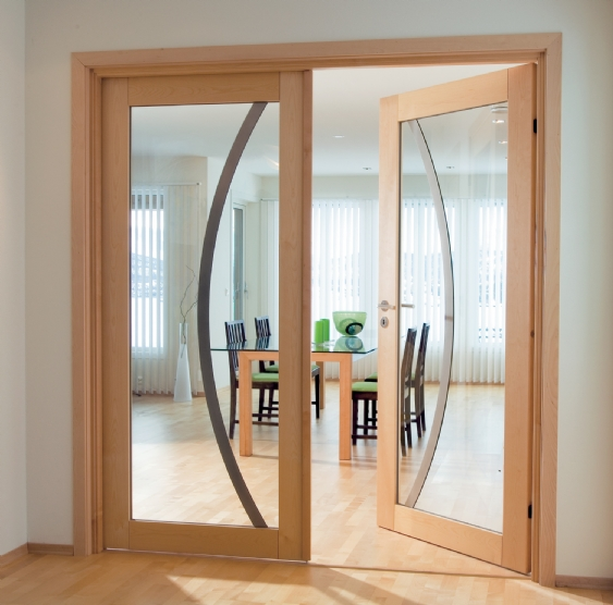 Commercial fire rated wood doors with glass are quality
