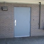 : Commercial metal entry doors are made of top quality materials