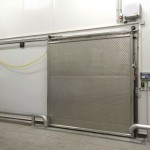 Commercial sliding door wheels goes on the special rails