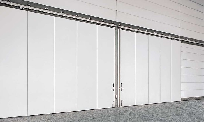 Extra durable fiberglass commercial exterior doors for Commercial interior sliding glass doors