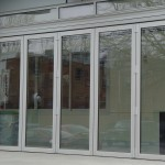: Commercial sliding glass entry doors can be transparent
