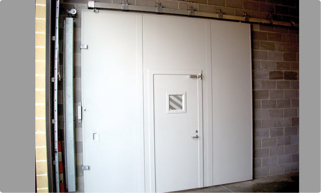 Commercial top hung sliding doors can divide space into zones