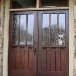 : Craftsman style double entry doors allow us to make any place look magical