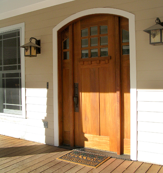 Craftsman style entry doors with sidelights