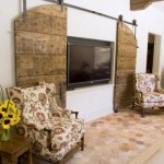 : Custom size interior French doors are used in creative interiors
