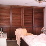 : Custom size interior closet doors are likely to be sliding
