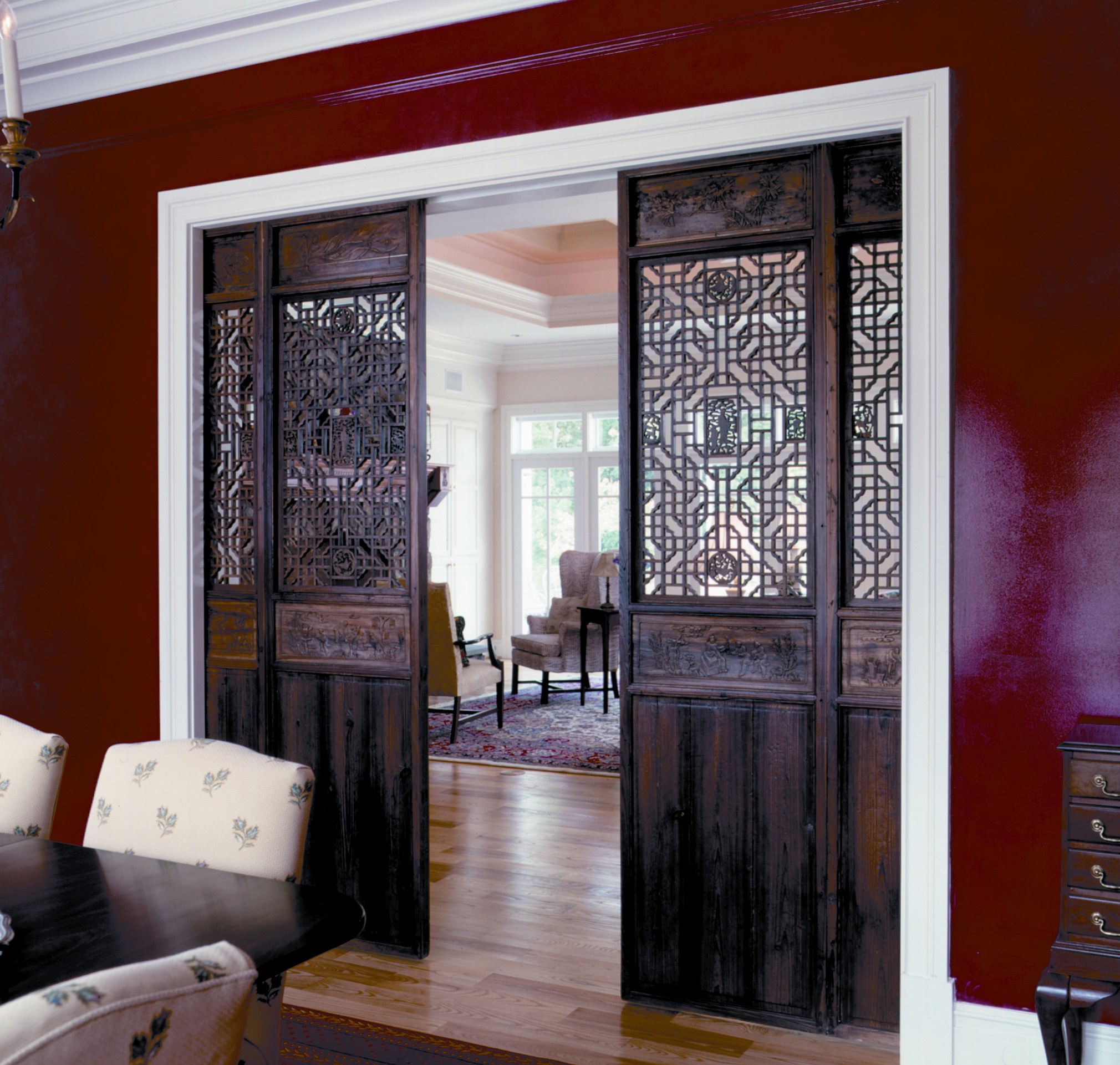 Decorative Etched Glass Interior Doors Are Contemporary Interior