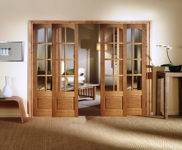 Decorative interior doors in UK are made of wood