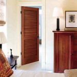 Decorative interior louvered doors will suit for the modern room