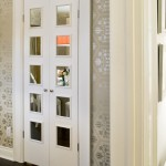 : Decorative interior pantry doors can be equipped with a mirror