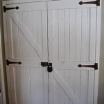 : Decorative interior pocket doors look great