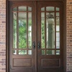 : Double doors made of fiberglass are ideal for a front entry