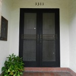 : Double front entry doors can be arched to look more elegant