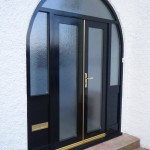 : Double front entry doors can be made from steel for high safety