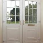 : Double glazed exterior doors in UK may have clear or etched glass