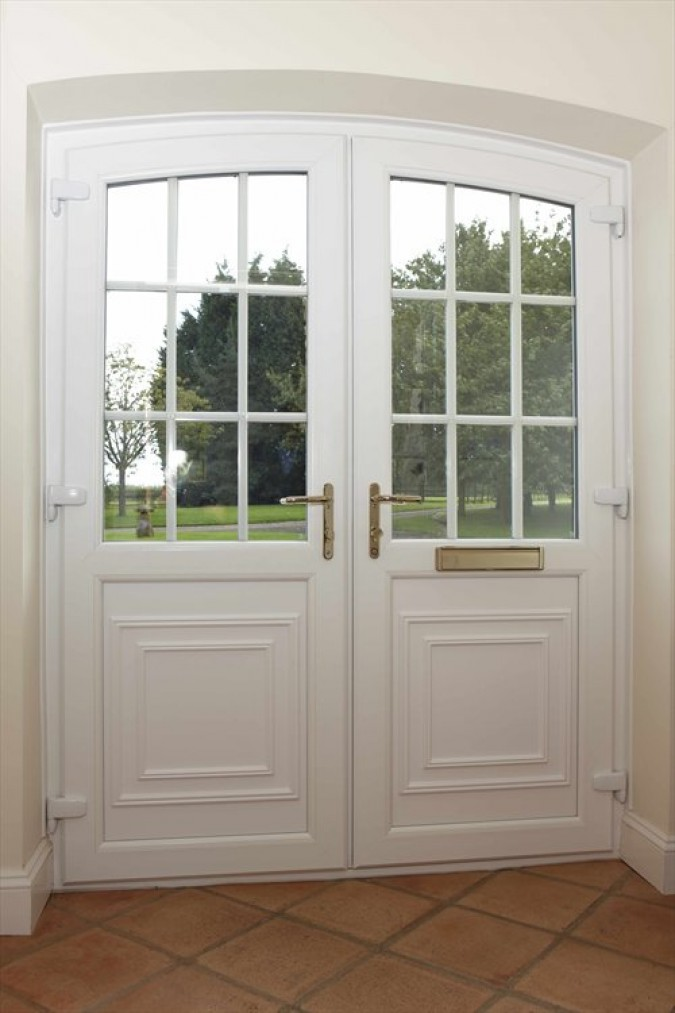 Double glazed exterior doors in UK may have clear or etched glass