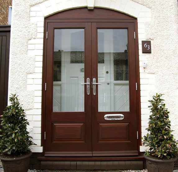 Double glazed exterior wooden doors add splendour to your home