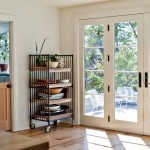 : Elegant interior French doors are ideal for corresponding styles