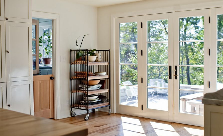 Elegant interior French doors are ideal for corresponding styles