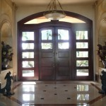 : Entry doors with arched transom are all the rage and people buy