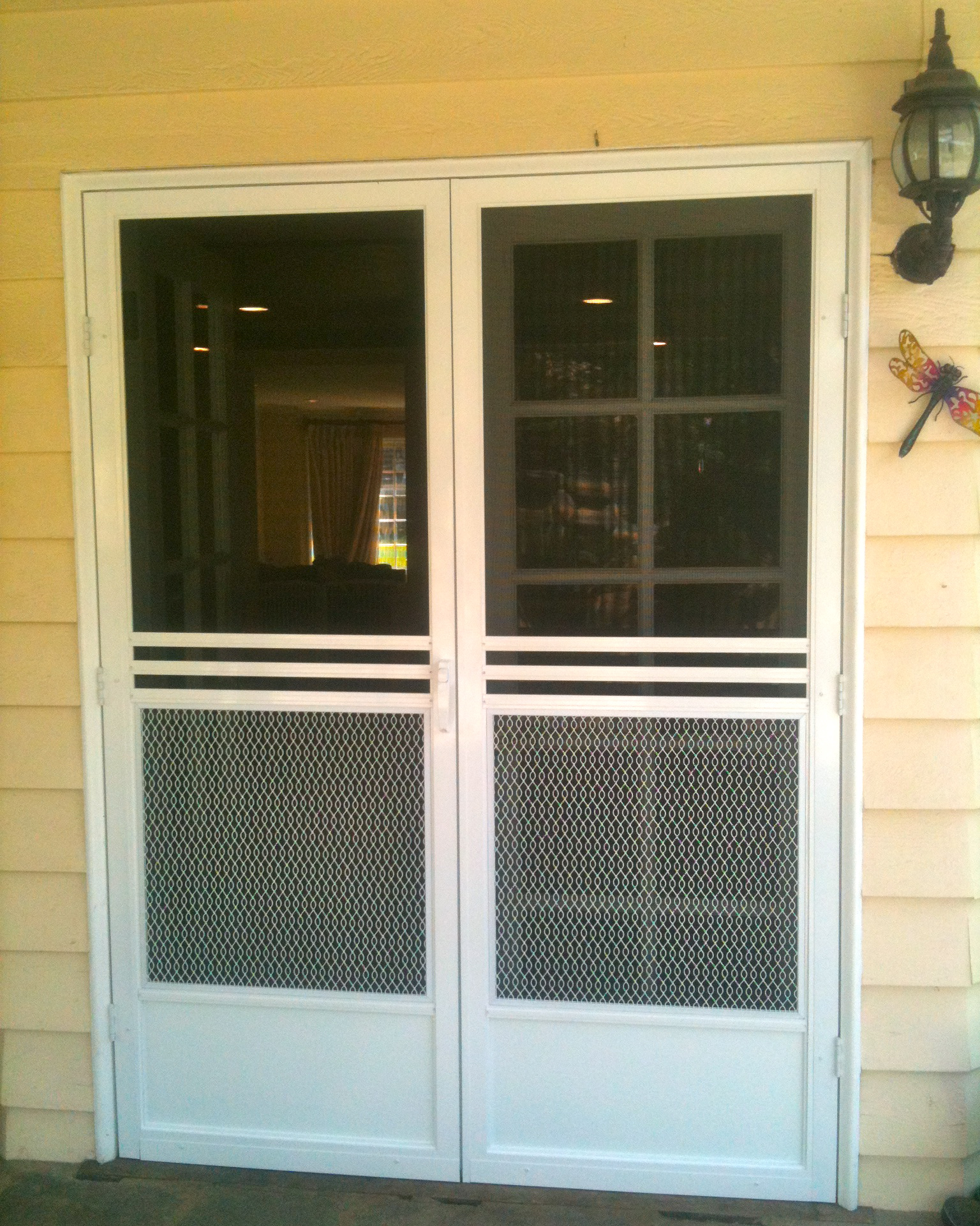 Exterior French doors with side panels look perfectly in houses