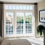 : Exterior French doors with transom look fashionable and chic