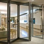 : Exterior bifold door tracks are made of quality metal and plastics
