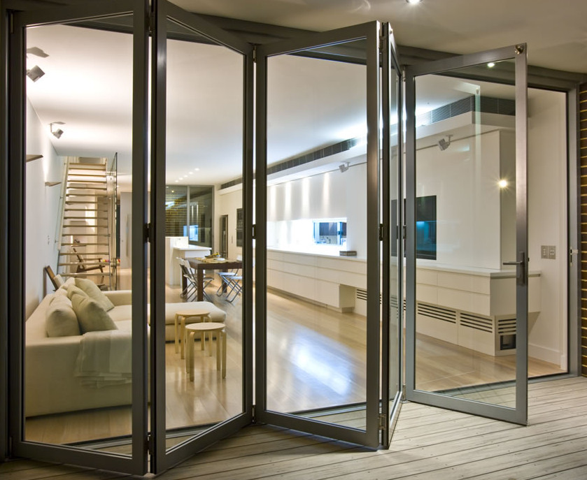 Exterior bifold door tracks are made of quality metal and plastics