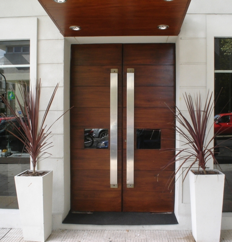 Exterior double doors in UK are traditionally made of wood