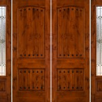 : Exterior double doors with sidelights allow much more light into foyer